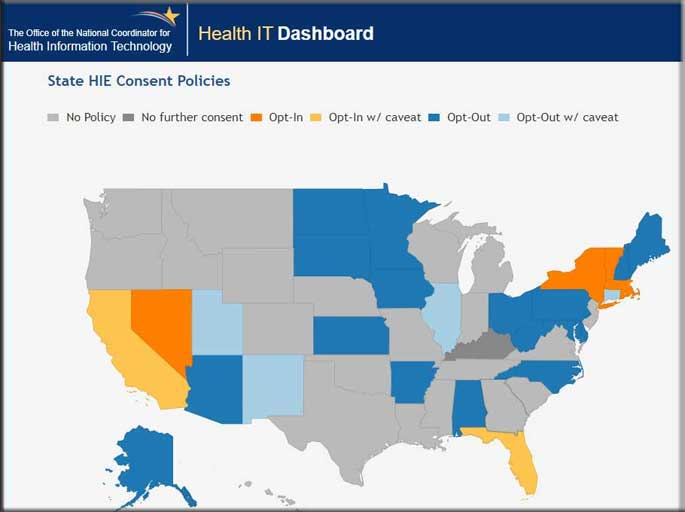 State by state Health Information Exchange (HIE) Policies examined.